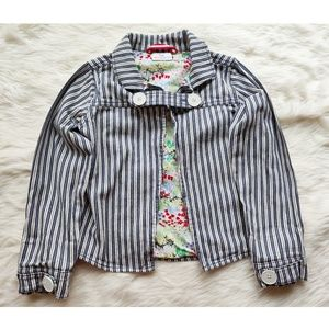 HANNA ANDERSSON 130 striped cotton jacket 8
